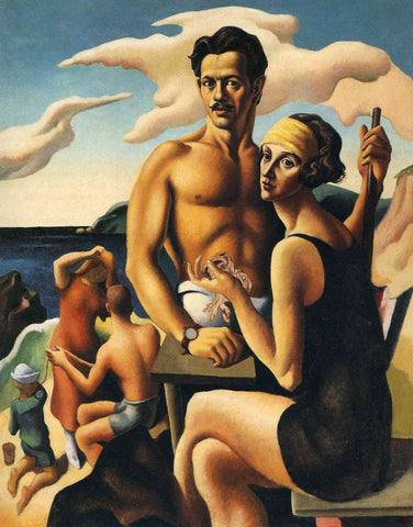 Self-Portrait with Rita by Thomas Hart Benton