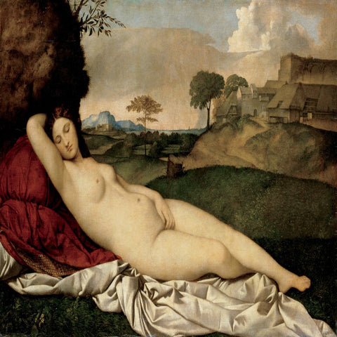 Sleeping Venus by Giorgione and Titian - Famous Painting