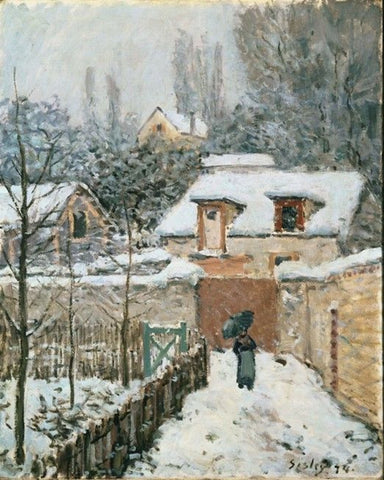 Snow at Louveciennes by Alfred Sisley - Famous Painting