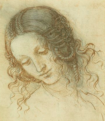 Study for the head of Leda by Leonardo da Vinci