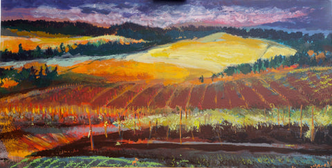 Sunset At The Vineyard by Sidonie Caron