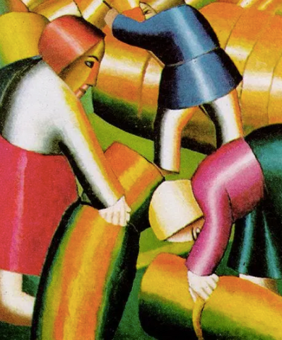 Taking in the Harvest by Kazimir Malevich