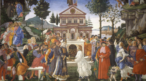 Temptations of Christ by Sandro Botticelli