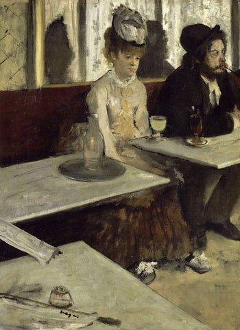 The Absinthe Drinker by Edgar Degas