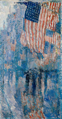 The Avenue In The Rain by Childe Hassam
