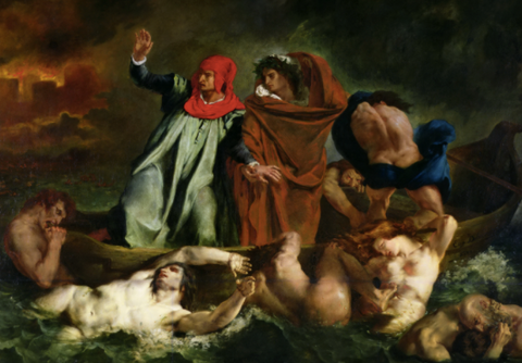 The Barque of Dante by Eugène Delacroix