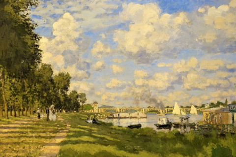 The Basin at Argenteuil by Claude Monet