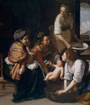The Birth of Saint John the Baptist by Artemisia Gentileschi