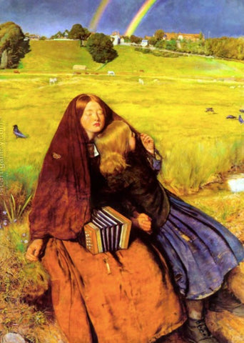 The Blind Girl by John Everett Millais - Famous Painting