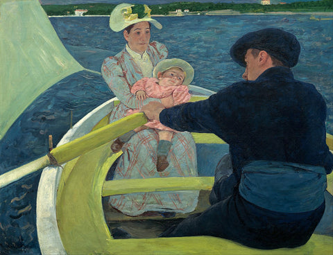 The Boating Party Painting by Mary Cassatt