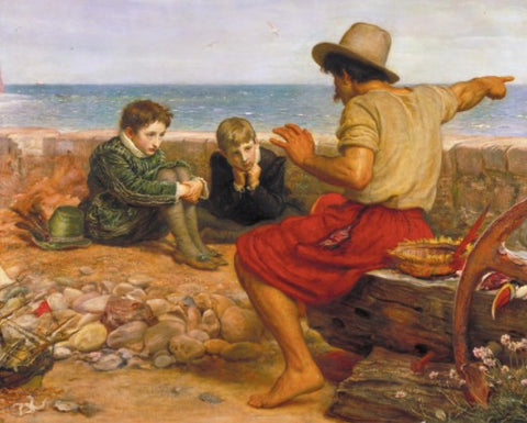 The Boyhood of Raleigh by John Everett Millais - Famous Painting