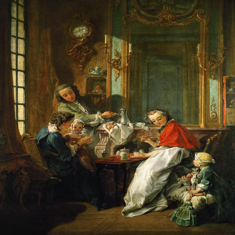 The Breakfast by François Boucher - Famous Painting