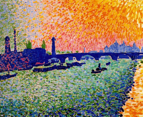 The Bridge, view on the river by André Derain