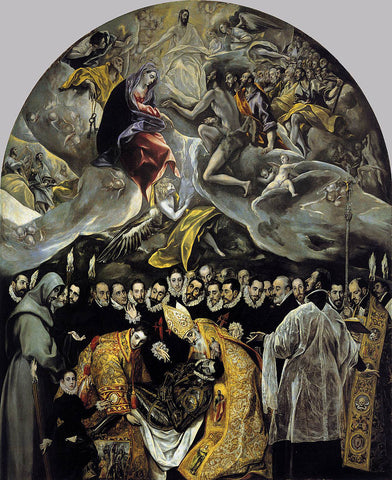 The Burial of the Count of Orgaz (El entierro del conde de Orgaz) by El Greco