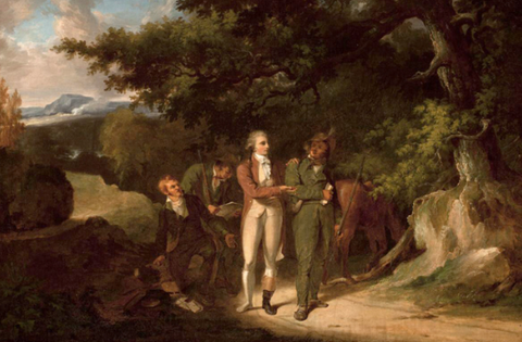 The Capture of Major André by Thomas Sully