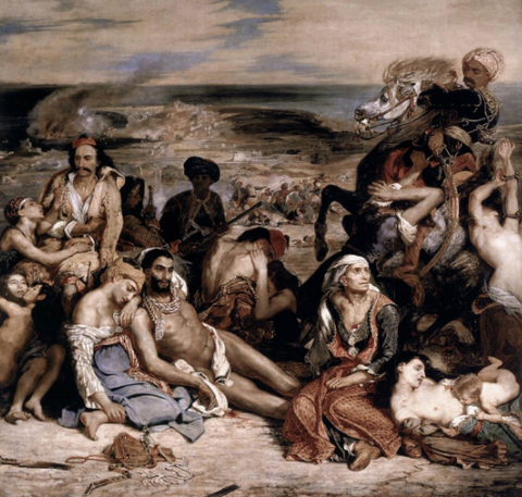 The Chios Massacre by Eugène Delacroix