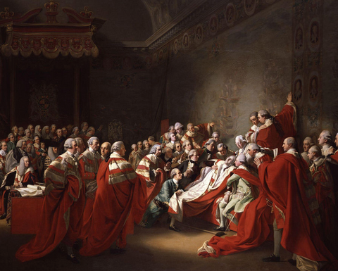 The Death of the Earl of Chatham by John Singleton Copley