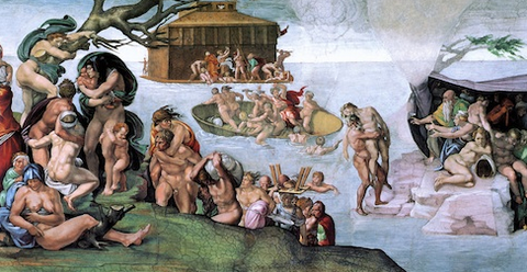 The Deluge by Michelangelo