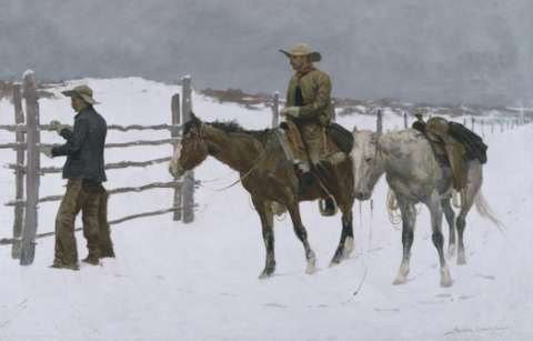 The Fall of the Cowboy by Frederic Remington