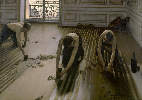 The Floor Scrapers Painting by Gustave Caillebotte