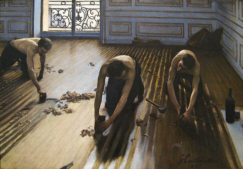 The Floor Scrapers, also known as The Floor Strippers by Gustave Caillebotte