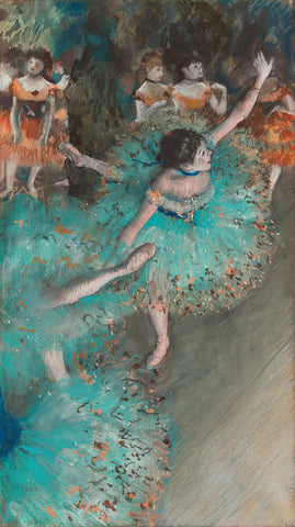 The Green Dancer by Edgar Degas