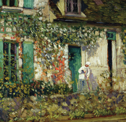 The House in Giverny by Frederick Carl Frieseke