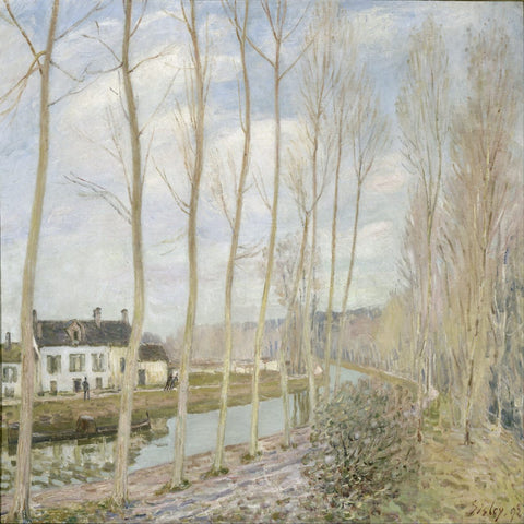 The Loing's Canal by Alfred Sisley - Famous Paintings