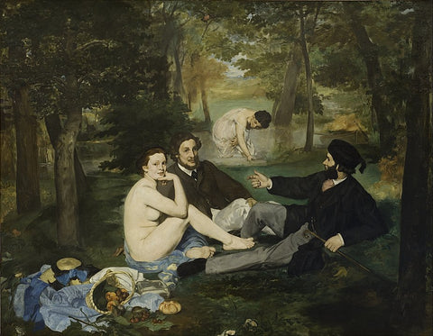 The Luncheon on the Grass or Le dejeuner sur l'herbe by Edouard Manet