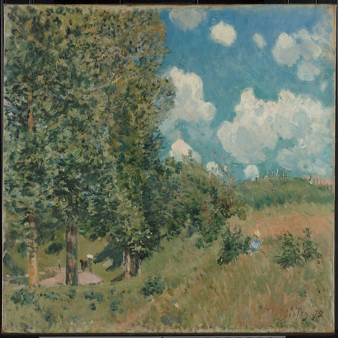 The Road from Versailles to Saint-Germain by Alfred Sisley - Famous Painting