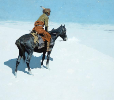 The Scout: Friends or Foes? by Frederic Remington