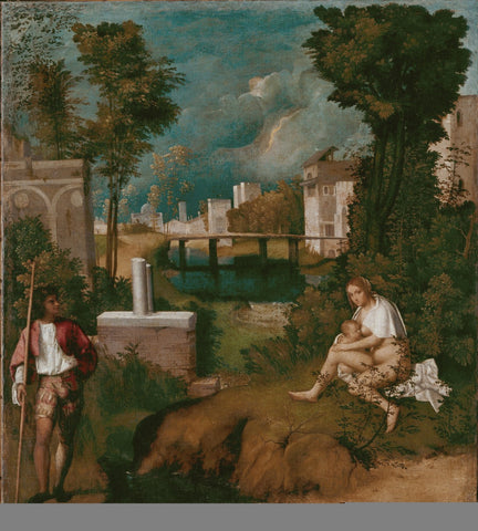 The Tempest by Giorgione - Famous Painting