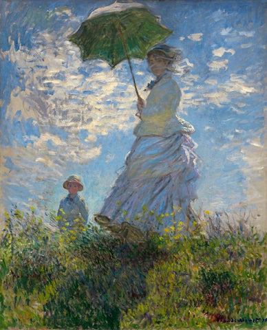 The Walk, Woman with a Parasol by Claude Oscar Monet
