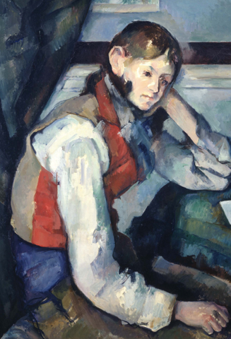 The boy in a Red Vest by Paul Cézanne