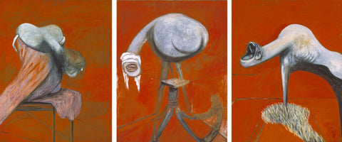Three Studies for Figures at the Base of a Crucifixion - Triptych by Francis Bacon