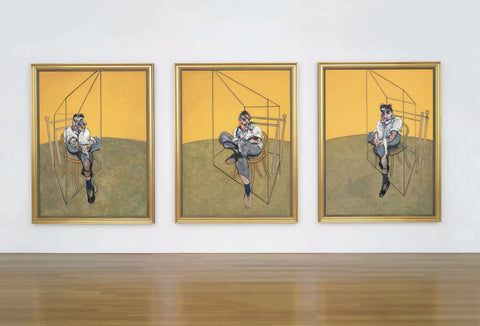 Three Studies of Lucian Freud - Triptych by Francis Bacon