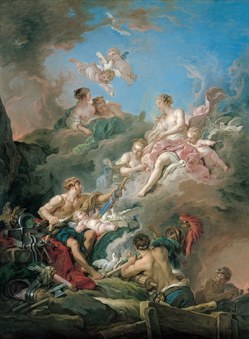 Venus at Vulcan's Forge by François Boucher - Famous Painting