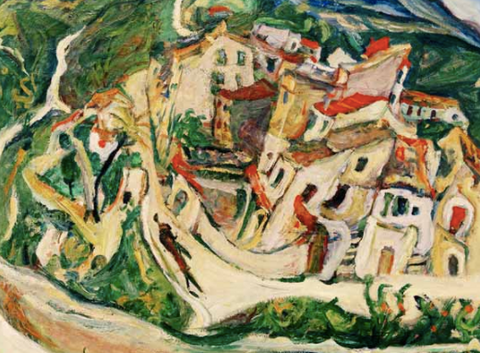View of Cagnes by Chaim Soutine