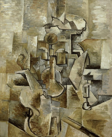Violin and Candlestick by Georges Braque