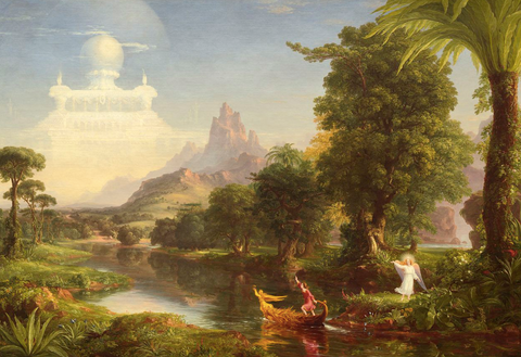 Voyage of Life - Youth by Thomas Cole