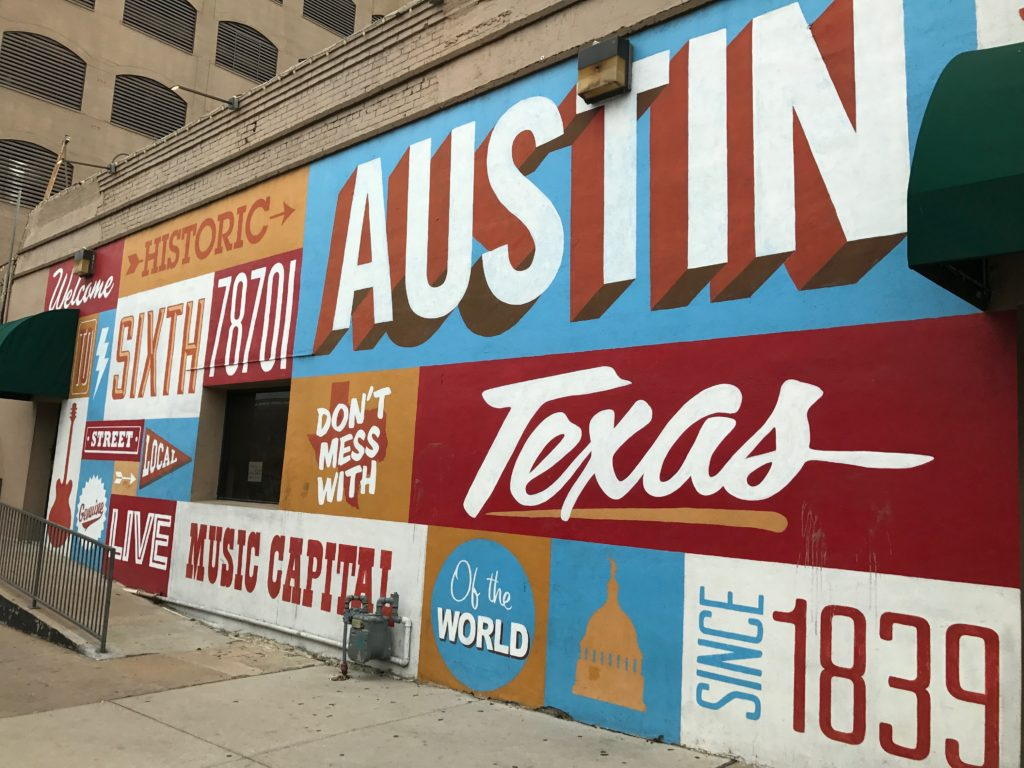 Welcome To History Sixth Street Mural In Austin