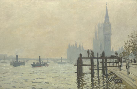 Westminster Bridge (aka The Thames below Westminster) by Claude Monet