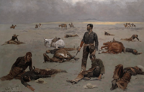 What an Unbranded Cow Has Cost by Frederic Remington