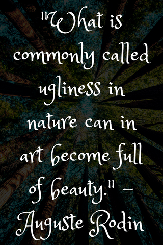 """What is commonly called ugliness in nature can in art become full of beauty."" - Auguste Rodin"