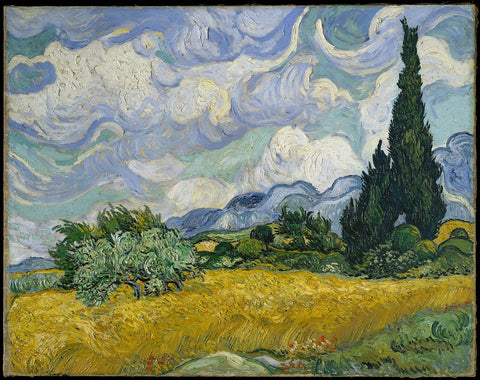 Wheat Field with Cypresses at the Haude Galline near Eygalieres by Vincent van Gogh