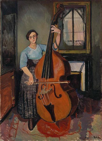 Woman with a Double Bass by Suzanne Valadon