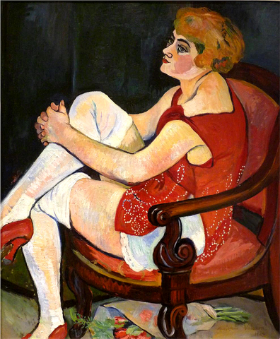 Women in white stockings Painting by Suzanne Valadon