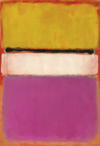 White Center (Yellow, Pink, and Lavender on Rose) by Mark Rothko