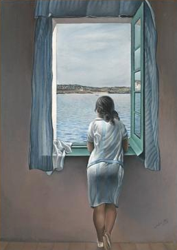Young Woman at a Window Painting by Salvador Dali