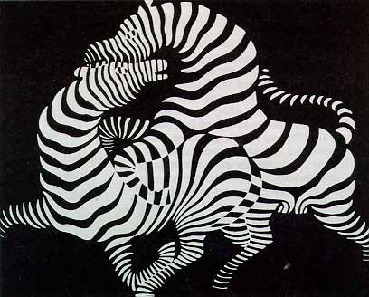 Zebra by Victor Vasarely